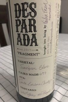 2017 Desparada Fragment Sauvignon Blanc