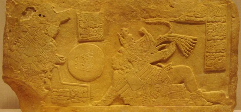 Ballcourt Panel, limestone, 700/800 CE, Late Classic Maya; possibly La Corona, Usumacinta River area, Guatemala