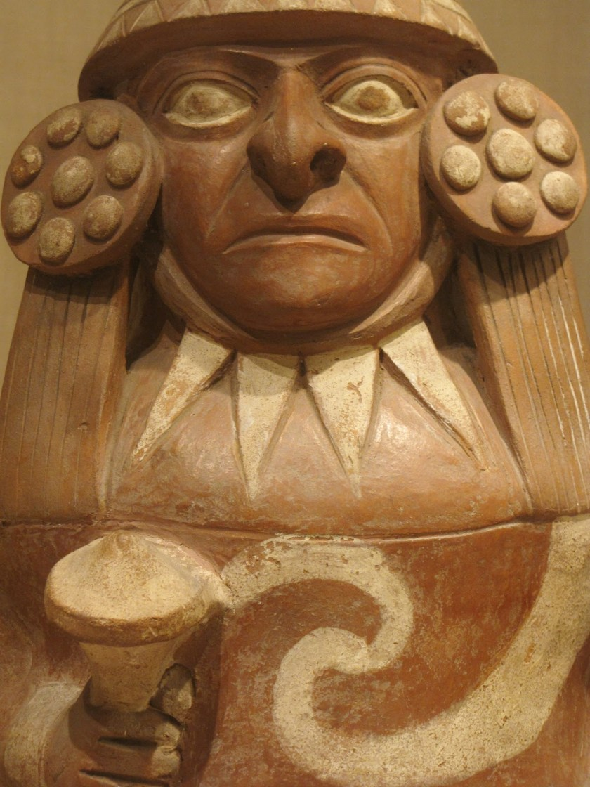 Jar in the Form of a Standing Figure, ceramic and pigment, 100 BCE/500 CE, Moche; North coast, Peru