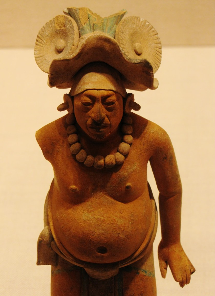 Standing Male Figure, ceramic and pigment, 650/800 CE, Late Classic Maya, Jaina; Campeche or Yucatán, Mexico