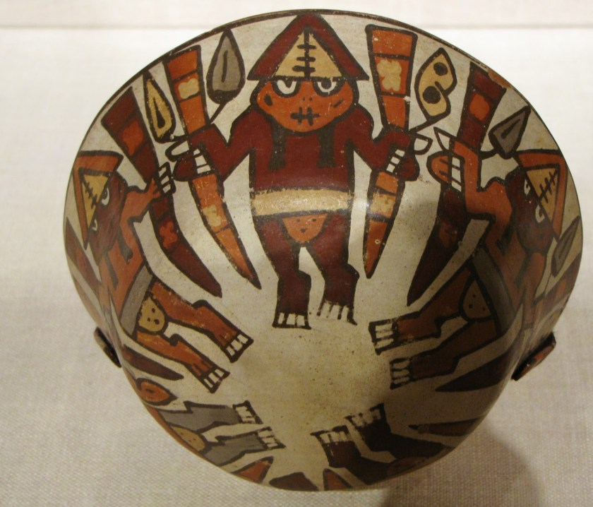 Bowl Depicting a Harvest Dance, ceramic and pigment, 180 BCE/500 CE, Nazca; South coast, Peru