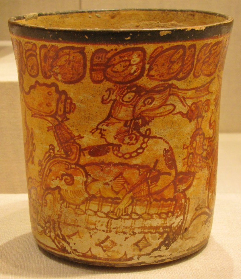 Vessel Depicting a Mythological Scene, ceramic and pigment, 600/800 CE, Late Classic Maya; Petén region, Guatemala