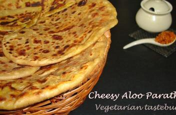 Cheesy Aloo Paratha