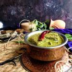 Sepu Vadi (Split Urad Dal Dumplings in Spinach Gravy)