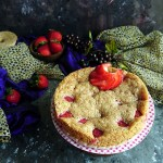 Eggless Double Strawberry Cake
