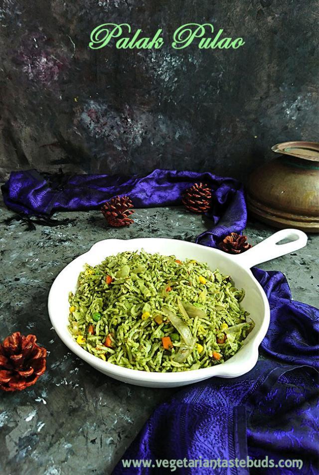 Spinach Pulao | Palak Pulao Recipe