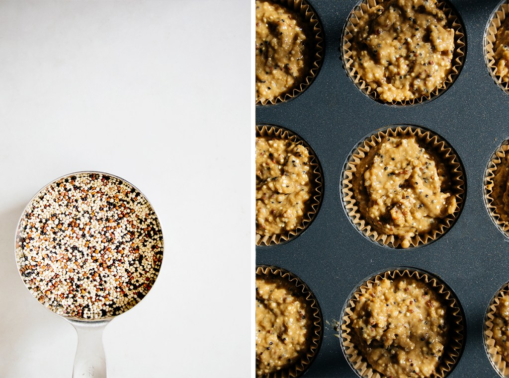 Blood Orange & Quinoa Muffins with Crystalized Ginger-Thyme Butter