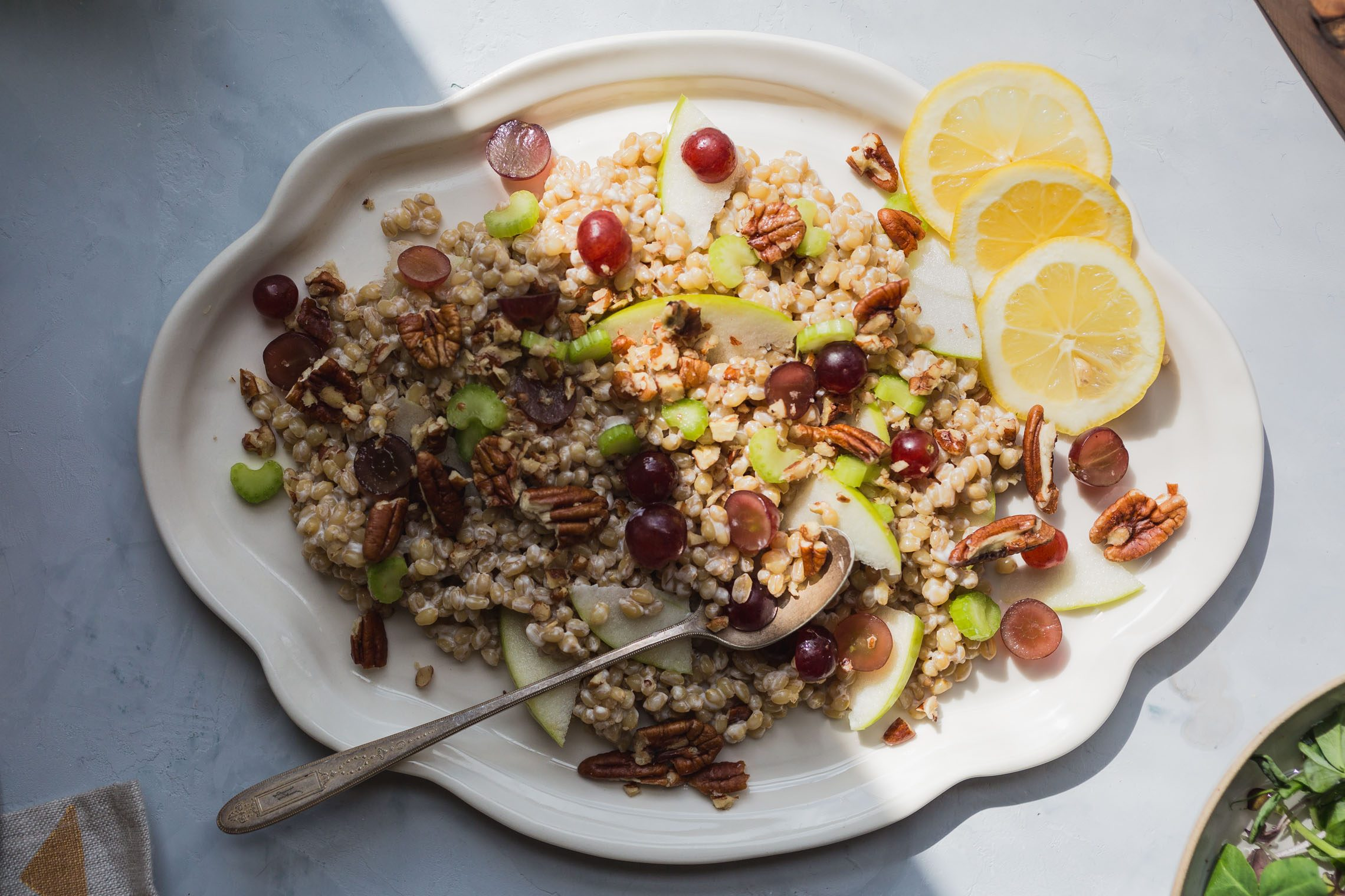 Vegan Waldorf Wheatberry Salad