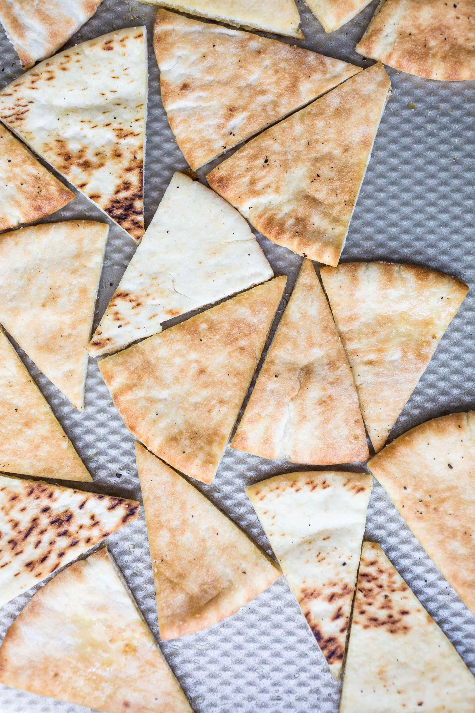 Fresh Greek Nachos with Herbed Tahini Sauce Recipe