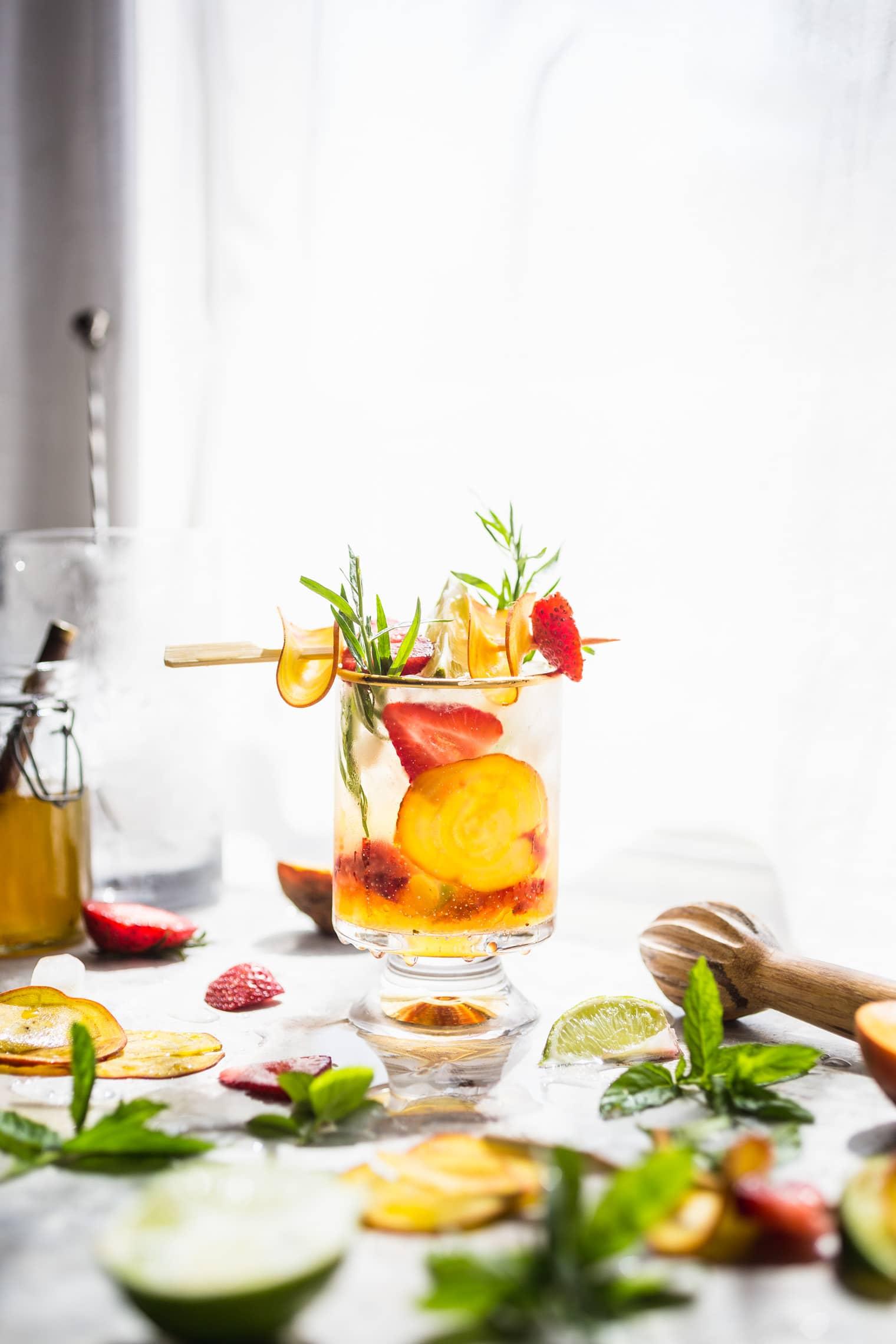 Beet Strawberry & Tarragon Vodka Smash Recipe