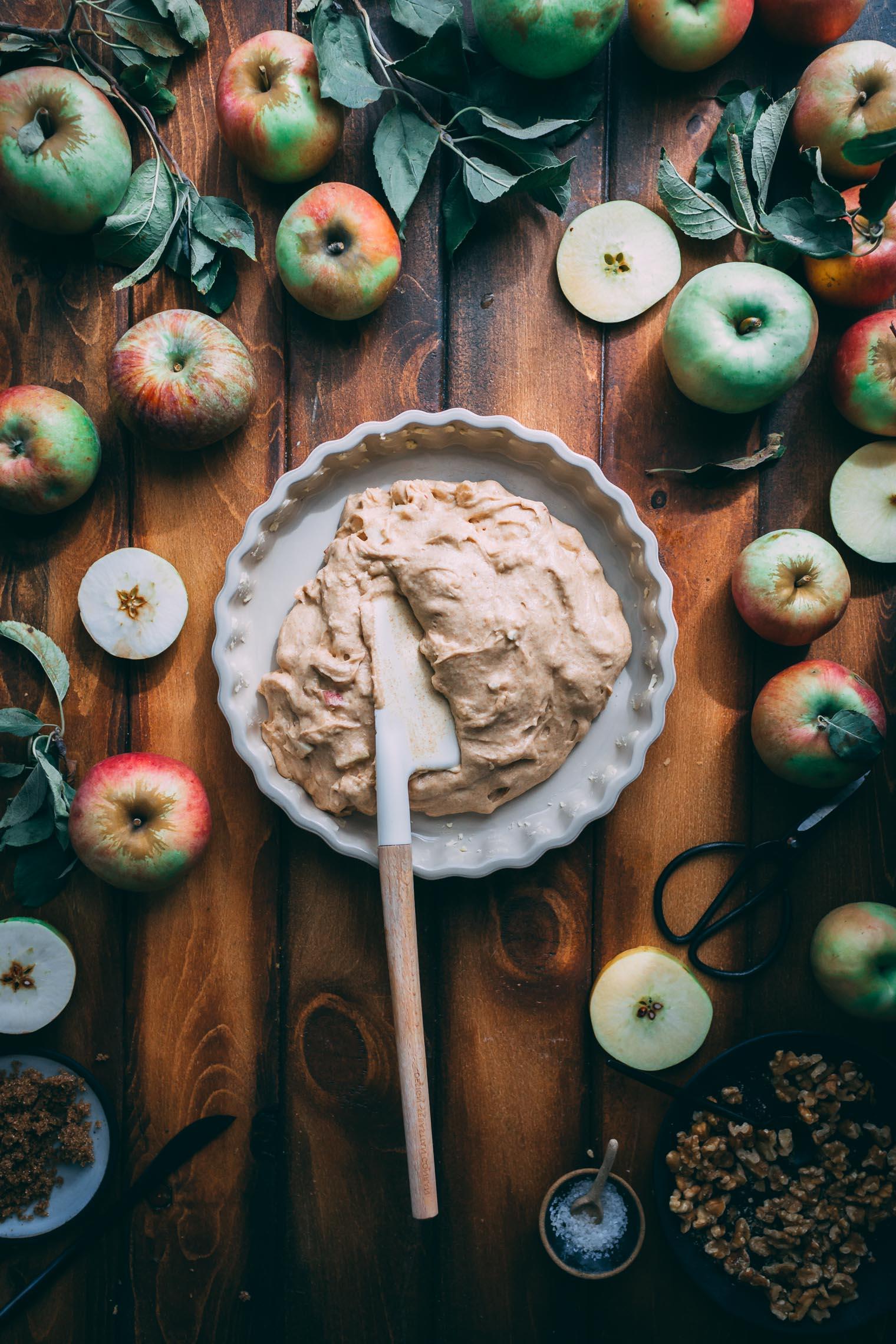 Apple Walnut Yogurt Coffee Cake
