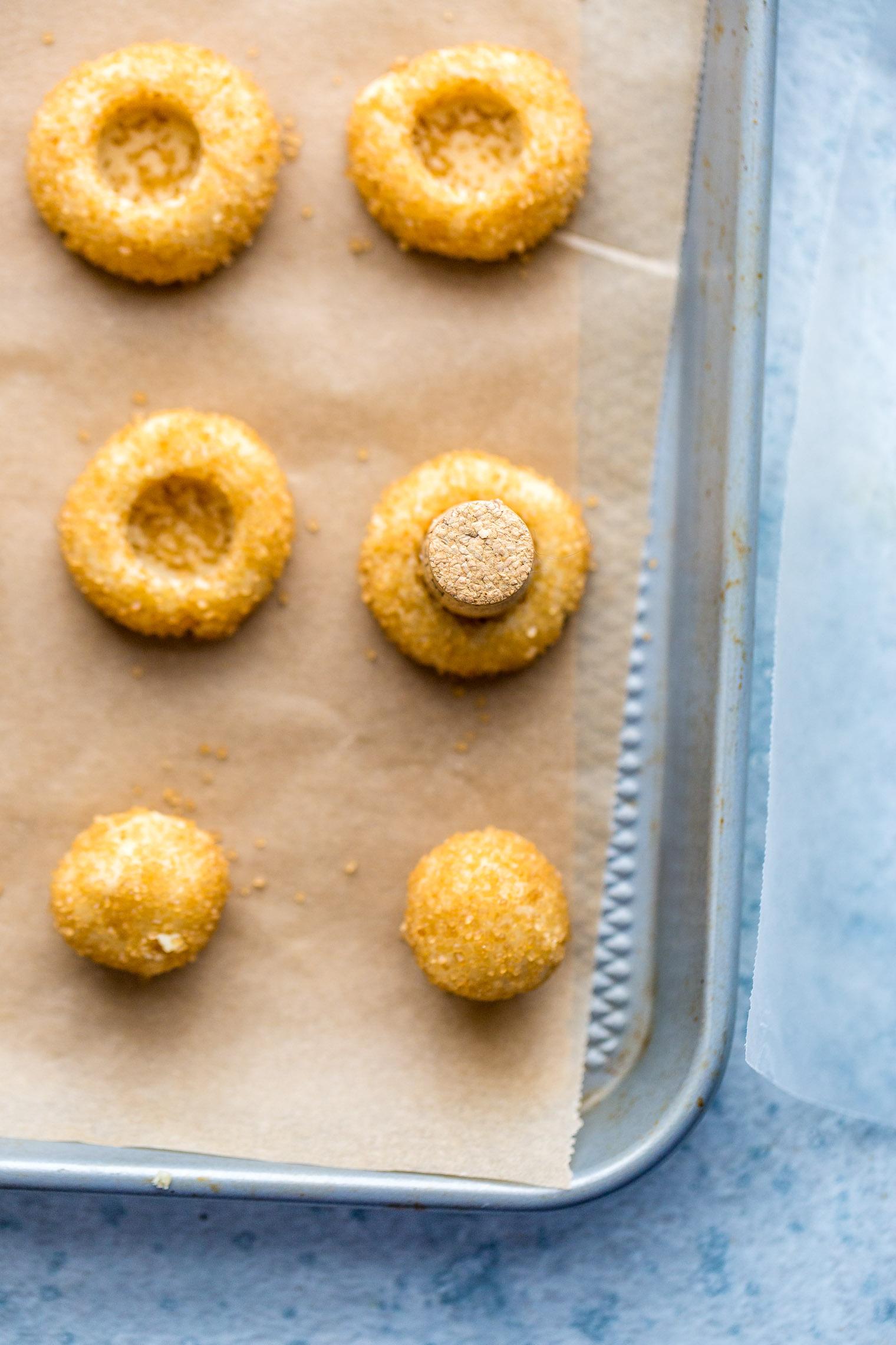 Shortbread Thumbprint Cookies with Cardamom Orange Caramel