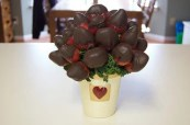 bouquet of chocolate covered strawberries - benefits of chocolate