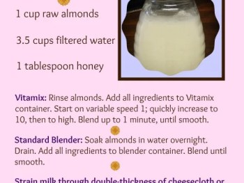 Almond Milk Recipe www.vegetarianzen.com