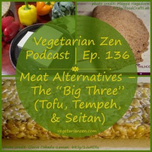 "Vegetarian Zen podcast episode 136 - Meat Alternatives ""the big three"" (Tofu, Tempeh, & Seitan) http://www.vegetarianzen.com"