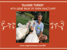 vegetarian zen podcast episode 283 - talking turkey with gene baur of farm sanctuary