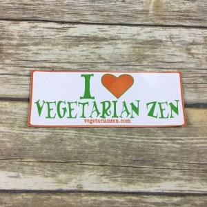 I love Vegetarian Zen magnet