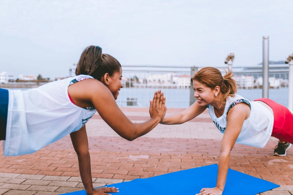 working out with a buddy is an exercise hack