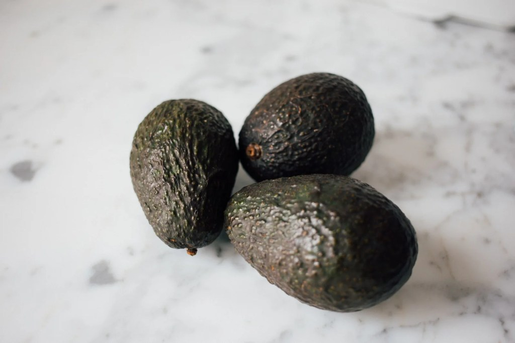 3 avocados are examples of healthy fats for vegans