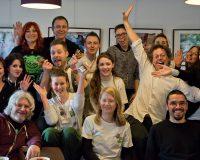 Photo du groupe de bénévoles à l'occasion du Namur Veggie Day.