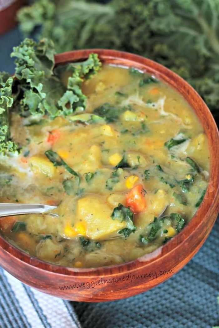 Potato Soup w/ Kale