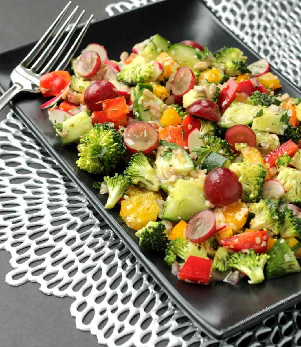 Raw Veggie Chopped Salad
