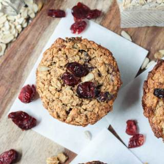 Baked Oatmeal Muffins with Cranberries
