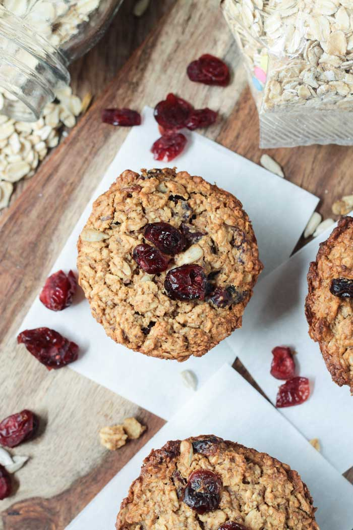 Cranberry-Baked-Oatmeal-Muffins