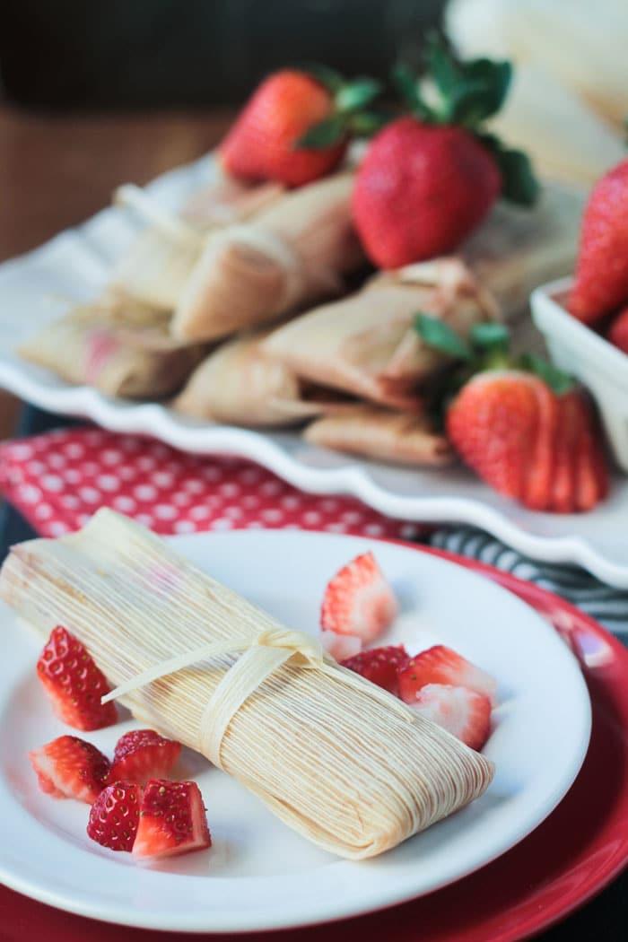 Vegan Strawberry Dessert Tamales