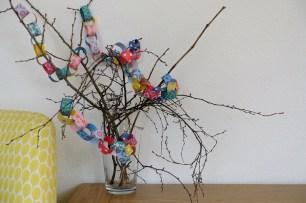 mini paper garland