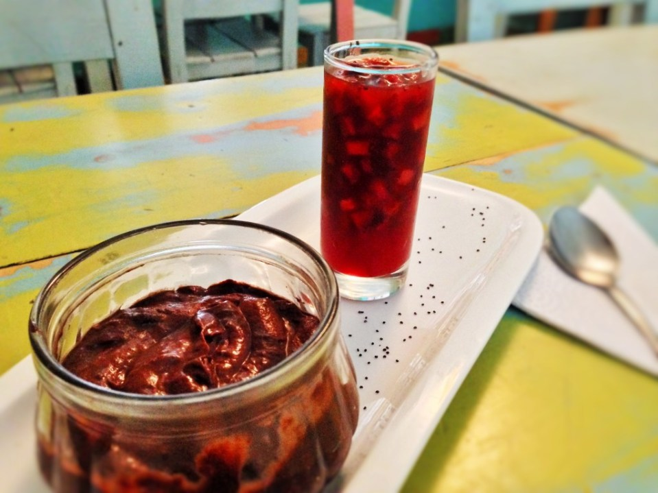 Vegan dessert at Verdeo Restaurant, Medellin