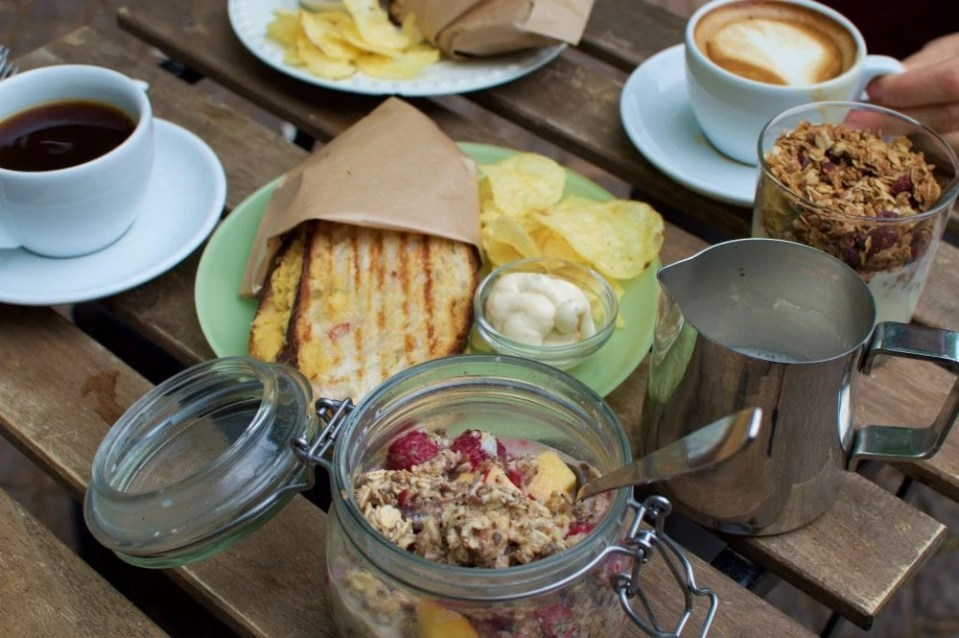 Uggla Kaffebar vegan breakfast feast in Malmo