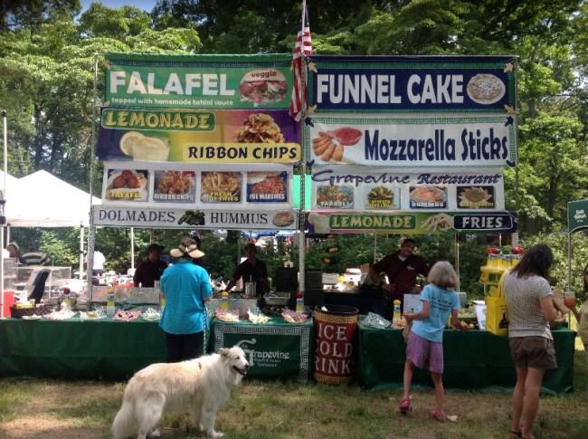 Vendors at Richmond Vegetarian Festival: Grapevine