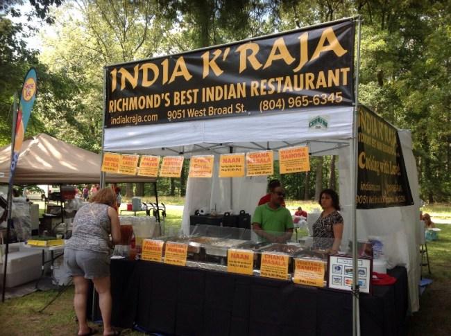 Vendors at Richmond Vegetarian Festival: India K'Raja