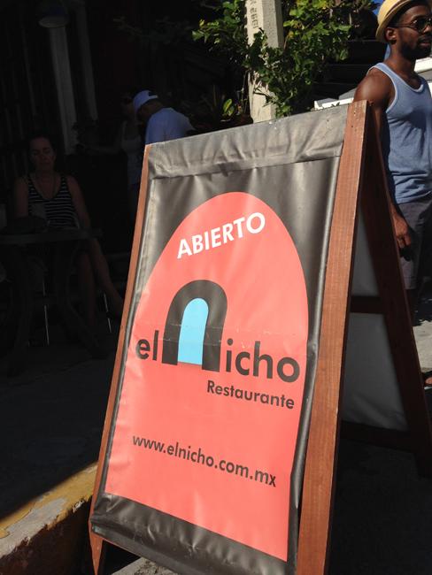El Nicho Sandwich Board