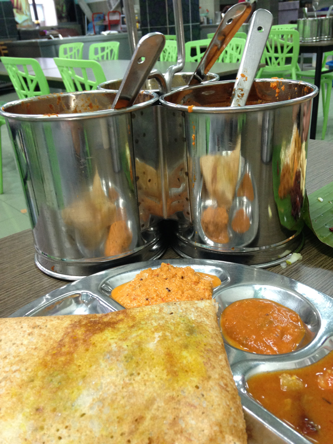 Dosa With Buckets Of Chutney