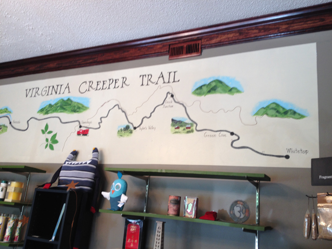 Virginia Creeper Trail Map
