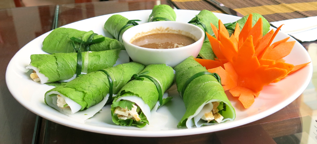 We fell in love with Vietnamese spring rolls, especially these made at the Kiman Hotel.