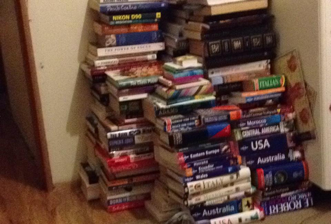 Kate Strong: Pile of Books