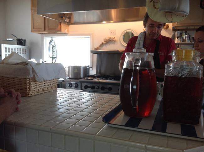Matteo at work in kitchen