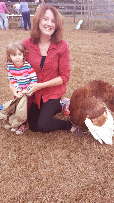 Sally Sanders with Turkey