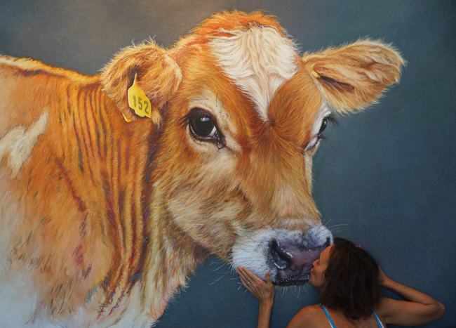 Chantal Cow Painting