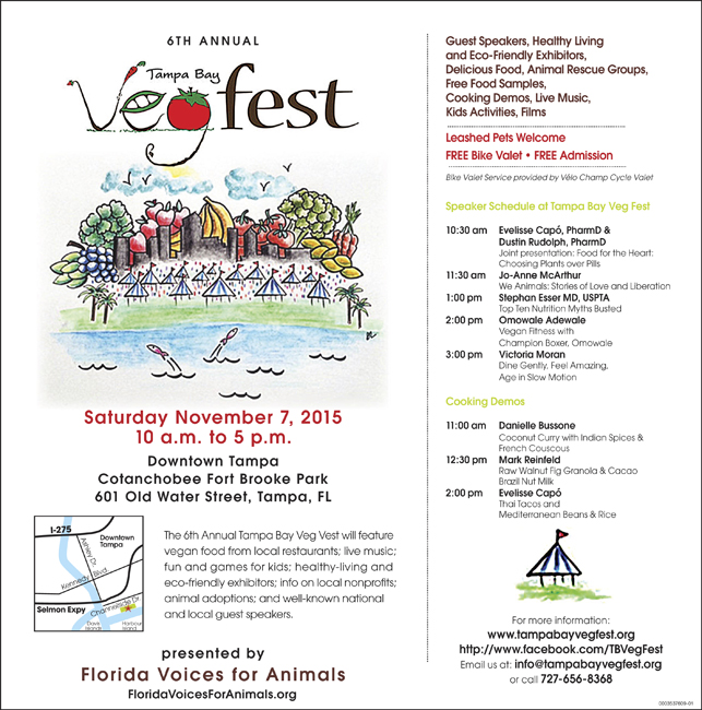 Countdown to Tampa Bay VegFest! Nov 7th at 10am!