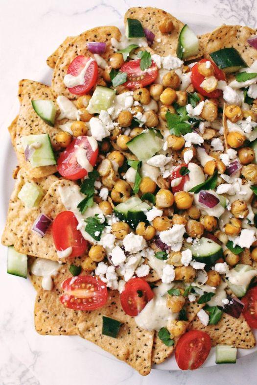 Vegan Greek Nachos