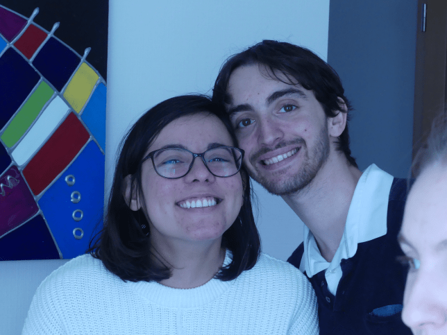 Allana and Thomas, Christmas 2020. - Expat meets vegan boyfriend