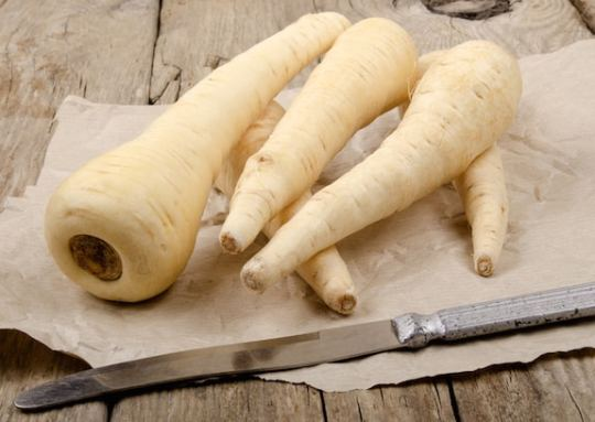 Parsnips on a table