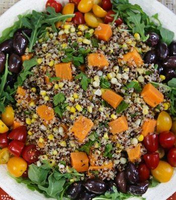 Quinoa, Sweet Potato, and Corn Salad