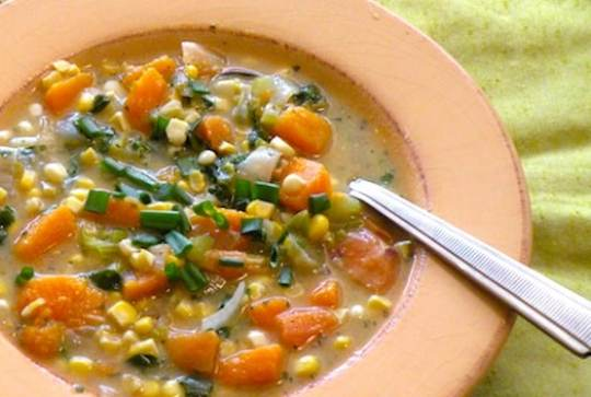 Squash and corn chowder