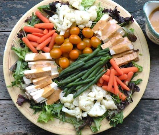 Gado gado salad platter