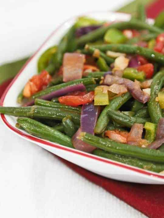 Piquant green beans recipe